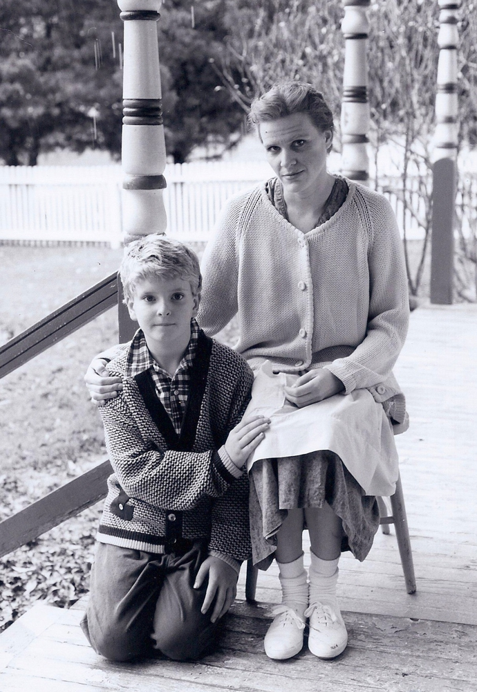 Truman Capote, age 7, with his beloved elderly cousin, Sook Faulk.